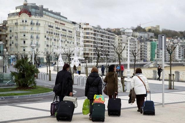 Turistas en Donostia