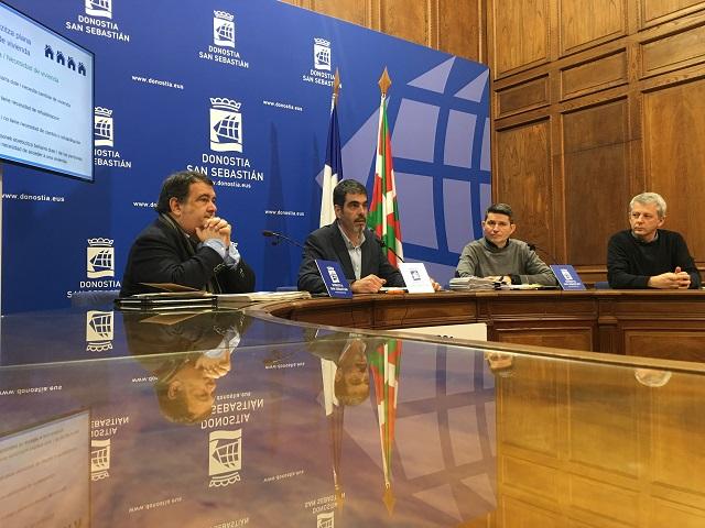 Ernesto Gasco, Eneko Goia, Enrique Ramos eta Rafa Farias